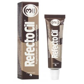 RefectoCil Natural Brown Nro 3 Ruskea ripsien & kulmien kestoväri 15 mL