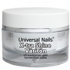 Universal Nails Kirkas X-tra Shine UV/LED päällysgeeli 30 g