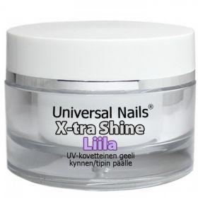 Universal Nails Liila X-tra Shine UV/LED päällysgeeli 30 g
