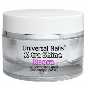 Universal Nails Roosa X-tra Shine UV/LED päällysgeeli 30 g