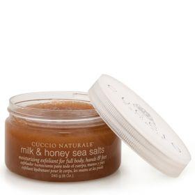 Cuccio Naturalé Sea Salts Milk & Honey pehmeä merisuolakuorinta  240 g