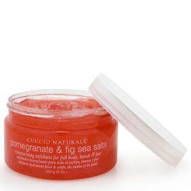 Cuccio Naturalé Sea Salts Pomegranate & Fig pehmeä merisuolakuorinta  240 g