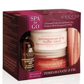 Cuccio Naturalé Pomegranate & Fig Spa to Go hoitopakkaus