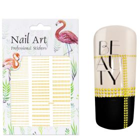 Universal Nails NailArt Sticker 3D Gold Stripes koristetarrat