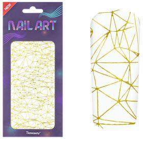 Universal Nails XL NailArt Sticker Gold G01 koristetarrat