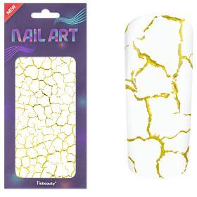 Universal Nails XL NailArt Sticker Gold G02 koristetarrat