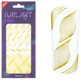Universal Nails XL NailArt Sticker Gold G04 koristetarrat