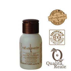 Naturalmente Aloe & Sandalwood Multivitamin tasapainottava shampoo mini 50 mL