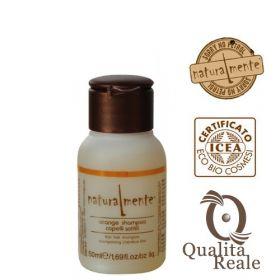 Naturalmente Orange Volumizing tuuheuttava shampoo mini 50 mL