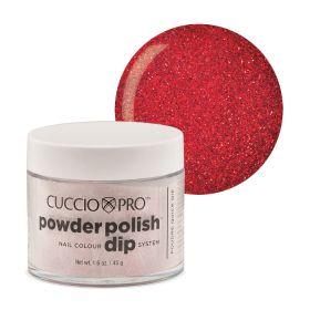 Cuccio Ruby Red Glitter Dip Powder Polish dippipuuteri 45 g