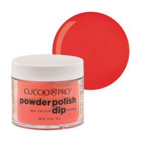 Cuccio Red with Orange 2in1 Dip Powder Polish dippi- & akryylipuuteri 45 g