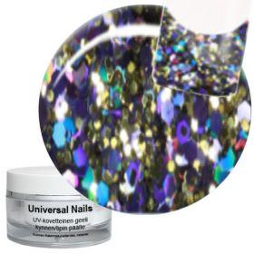 Universal Nails Universe Big Glitter UV glittergeeli 10 g