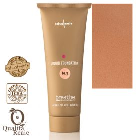 Naturalmente Breathe Liquid Foundation Meikkivoide Sävy 3 Spelt 40 mL
