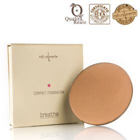 Naturalmente Breathe Compact Foundation Meikkipuuteri Sävy 3 Earth 9 g