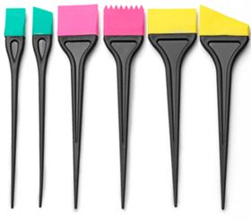 Noname Cosmetics Silikoniset väripensselit 6 kpl