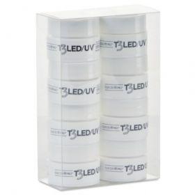 Cuccio T3 LED/UV Cool Cure Workshop Kit geelipakkaus 8 x 7 g