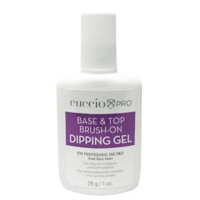 Cuccio Base & Top Brush-On Dipping Gel alus- ja päällysgeeli 28 g