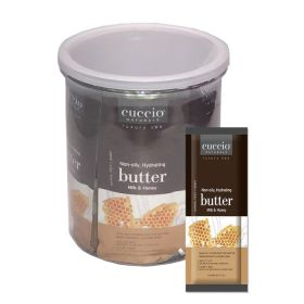 Cuccio Naturalé Butter Blend Milk & Honey Sachet kosteusvoidepussi 18 x 20 g