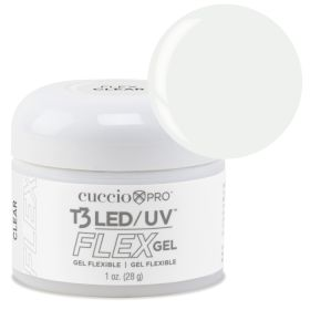 Cuccio Clear T3 LED/UV FLEX Gel geeli 28 g
