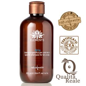 Naturalmente Elements Aria shampoo kuivalle hiuspohjalle 250 mL