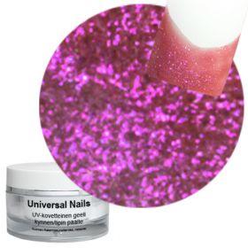 Universal Nails Flip Flop Ruusu UV glittergeeli 10 g