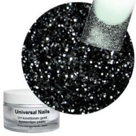 Universal Nails Musta Kuunsäde UV glittergeeli 10 g