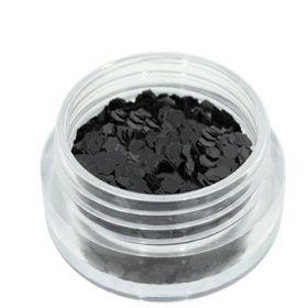 Universal Nails Heksagoni paljetit musta 1,5 g