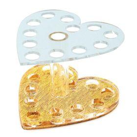 Noname Cosmetics Sydämenmuotoinen Pensseliteline kulta