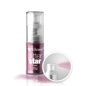 Silcare #06 Pink Glitter Star glittersuihke 25 g