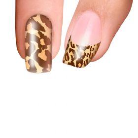 Trendy Nail Wraps Cheetalicious Brown Kynsikalvo kärkikalvo
