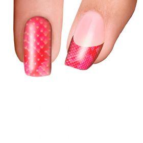 Trendy Nail Wraps Pink Crock Kynsikalvo koko kynsi