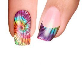 Trendy Nail Wraps Psychedelic Rainbow Kynsikalvo kärkikalvo