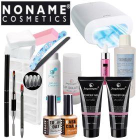Noname Cosmetics Fengshangmei Powder Polygel Aloituspaketti Master Promed UVL-36 S UV-uunilla