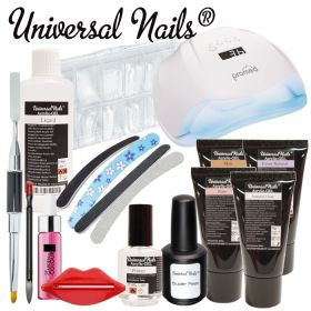 Universal Nails Acrylic-Gel Aloituspaketti Master Promed UVL-54 UV&LED-uunilla