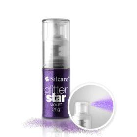 Silcare #08 Violet Glitter Star glittersuihke 25 g